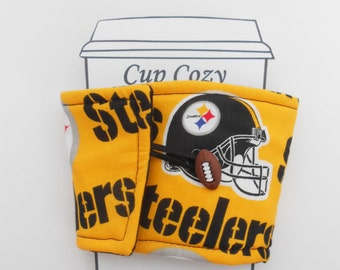 Steelers Football Coffee Cup Cozy