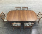 Mid-Century Modern Dining Table W/6-Chairs - Great Mad Men / Eames Era Decor *SHIPPING NOT INCLUDED*