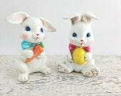 ON SALE Vintage Resin Bunnies, Made in Japan
