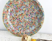 Gorgeous Brightly Colored Vintage Daher Bowl