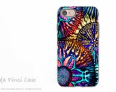 Colorful Abstract Coral - Artistic iPhone 7 Tough Case - Dual Layer Protection - Cosmic Star Coral