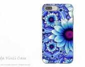 Blue Mexican Floral iPhone 7 PLUS Tough Case - Dual Layer Protection - Apple iPhone 7 PLUS Case - Talavera Alejandra