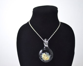 Glass Blown Shimmering Pendant Bead, Focal Bead, Necklace made of Borosilicate Boro