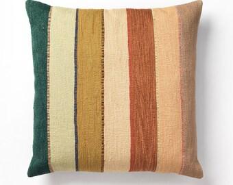 """Horizon in Green 28"""" Floor Pillow"""