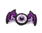 Sparkly Dragon Eye Hair Clip - Spooky Eyeball with Purple and Lilac or Emerald and Light Green Wings - Psychobilly Creepy Hair Accessory