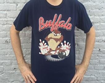 Vintage 1990s BUFFALO Bowling Tasmanian Devil / Looney Tunes T-Shirt