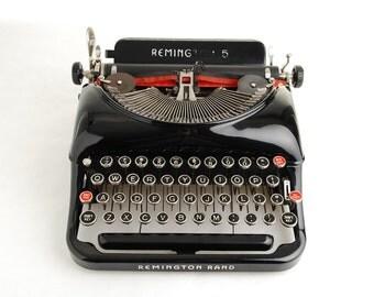 """Typewriter Remington Rand 5 """"Streamline"""""""