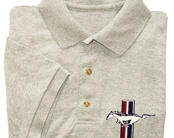 Ford Mustang shirt men's polo tee shirt gift for him dad