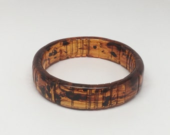 Vintage Tortoise Shell Lucite Bangle Bracelet