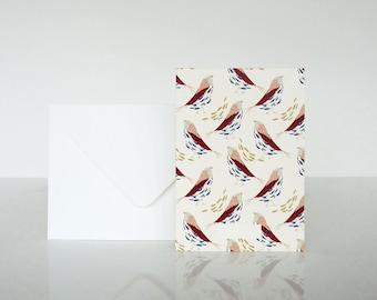 1 message Mésanges card - 1 carte à message Mésanges