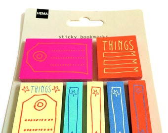 7 Colorful small Sticky Notes Things