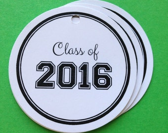 Class of 2016 / Graduation Gift tags / Favor tags / set of 10