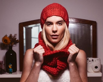 Pdf scarf pattern knit cowl women's winter accessories hand knit infinity scarf möbius tube