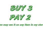 BUY 3 PAY 2 , 3 Items pay for 2, Special Offer, Do not purchase this listing please,  Free Gifts