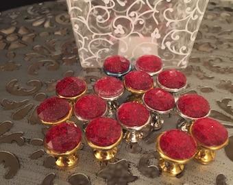 jeweled large thumb tacks push pins