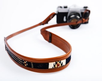 The Wanderly | Bohemian Leather Camera Strap, Stylish Leather Camera Strap, Womens Camera Strap, Neck Strap, High Quality Leather Strap
