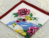Vintage Hankie for Collectors,  Sewing, Crafting, Great Gift Idea   F-40