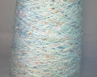 Nubby Cloudy Blue Sky Yarn Cone Cotton/Rayon Twist - 1 lb
