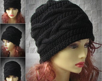 Hats for Women Beanie Hats Cable Hat Oversized Knit Hat Winter Hat