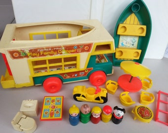 Vintage FISHER PRICE Little People Camper Set 994 So Fun
