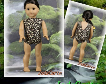 Large Leopard Print Leotard/Swim Suit for American Girl Doll