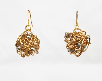 Scrunchies Metal Wire Ball Earrings