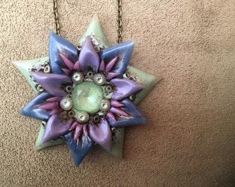Swarovski Crystal Floral Pendant