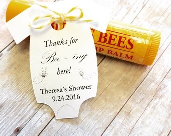 "MINI Thanks for Being Here Gift Tags ~ Baby Onesie Gift Tags ~ Baby Shower Party Favors ~ 10 tags ~ 2"" ~ Multiple Colors to Choose"