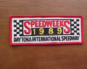 1989 Daytona International Speedway Speedweeks Patch New Old Stock Logo Mint Condition Never Used Now A Rare Race Track Collectible