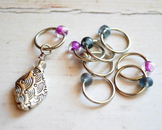 Seikai-Ha / Knitting Stitch Marker Set / Small Medium Large Sizes Available