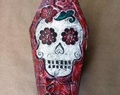 Sugar Skull Coffin Box - Day of the Dead