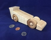Formula One Indy 500 Race Car Wooden Toy is Handmade with Natural Gloss Finish # 160904