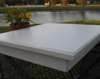 Large White Cake Stand - Handmade Wedding Cake Stand -Wood Cupcake Stand- Rectangular Wood Cake Stand -White Cake Stand - Serving Stand