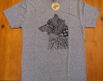 Men's T-Shirt, Guys Shirts, Animal Lover Tees, Wolf T-Shirt, Unisex, Short Sleeve T-Shirt, Art Tees, Hipster T-Shirts, Men's Clothing, Wolf