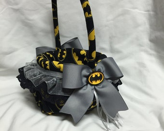 custom Bat Hero Flower Girl Basket