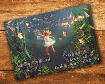 Custom Fairy Party Invite - Digital File