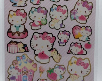 Sanrio Original Hello Kitty Glittered Stickers  (622061) Buy other items together for BETTER price.