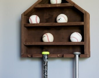 Trophy Display, Trophy Case, Baseball Display, Baseball Holder, Baseball Case, Home Plate Shelf, Baseball Decor, Display Case, Display Cases