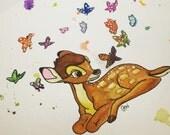 Custom Watercolor - Bambi (Billi Jo Turner)