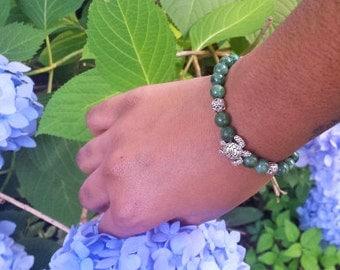 Silver Turtle Bracelet Jade Hand Jewelry Turtle Gemstone Bracelet Silver And Jade Hand Jewelry Holiday Gift Girlfriend Gift Boyfriend Gift