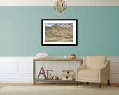 View from Kibber, Landscape Photograph, Himalayas, Nature, Wall Art Print, Wall Decor, Fine Art Print, Home Decor, Adventure