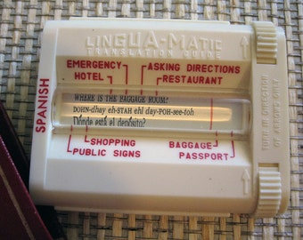 Lingua-Matic Vintage Spanish Translator, Vintage