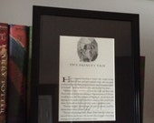 Harry Potter Framed Book Page with Etched Glass