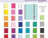 Planner Notebook Clipart 28 colors, PNG Digital Clipart - Instant download - daily planner, spiral notebook, datebook, life