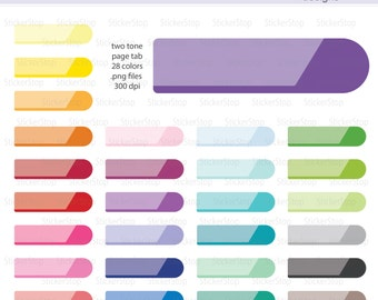 Two Tone Headers Page Flag Digital Clipart - Instant download PNG files