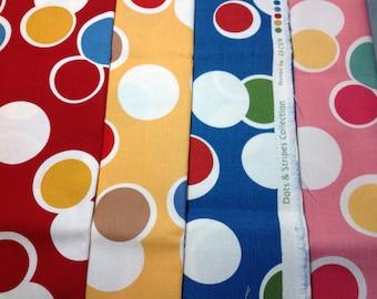 Lecien Dots & Stripes Linen/Canvas FQ bundle
