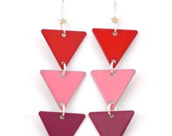 """Earrings """"Pink magenta red flag"""""""