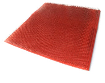 """Square Carding Cloth for blending boards - Standard cloth - 72 tpi - 12"""" x 12''"""