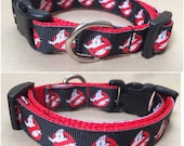 "Handmade Ghost Busters 5/8"" Adjustable Dog Collar - X-SMALL"