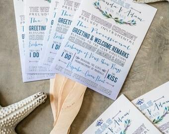 Wedding Program, Fan Program, Destination Wedding, Mexico Wedding